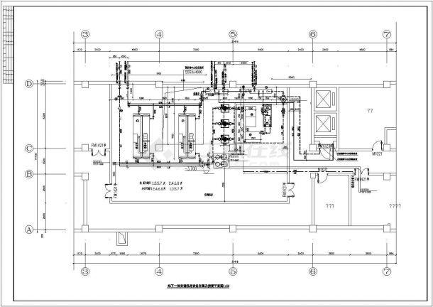 空调制冷机房详图-图一