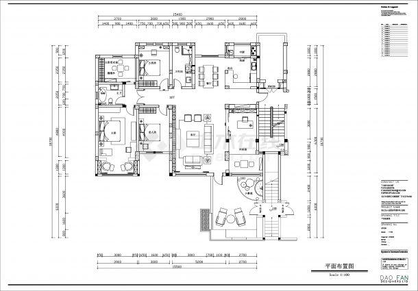 新中式别墅豪宅全套装修效果图cad施工图(含3D模型)-图一