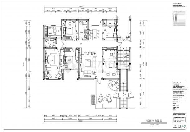 新中式别墅豪宅全套装修效果图cad施工图(含3D模型)-图二