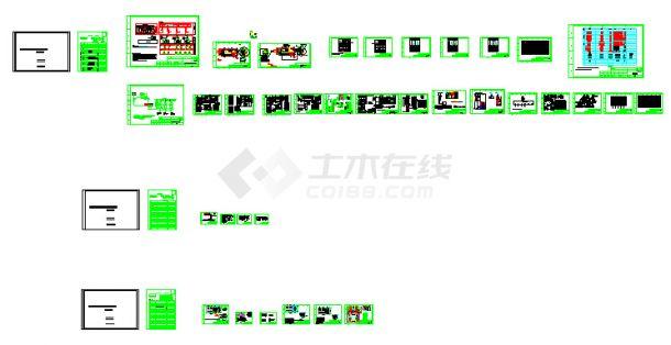 光伏发电高压并网设计cad全套图(标注齐全)-图一