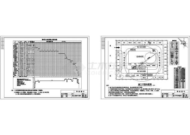 办公楼全套设计施工进度计划表和平面布置cad图纸-图一