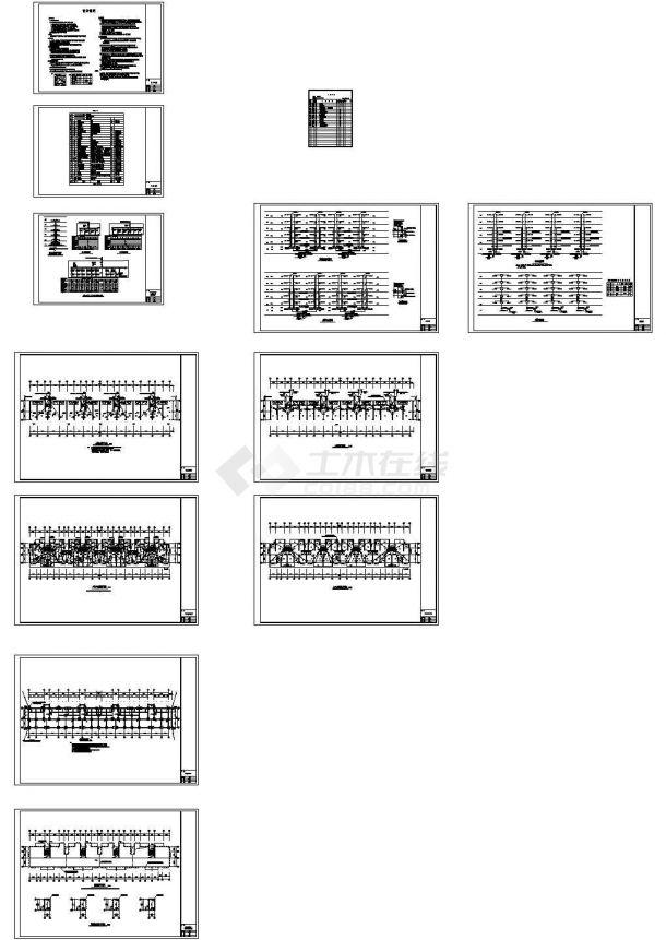 某10层花园式小区高层住宅楼群电气cad设计施工套图(含高层住宅楼弱电设计)-图二