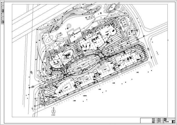 某食口工业园室外给排水管网设计图-图一