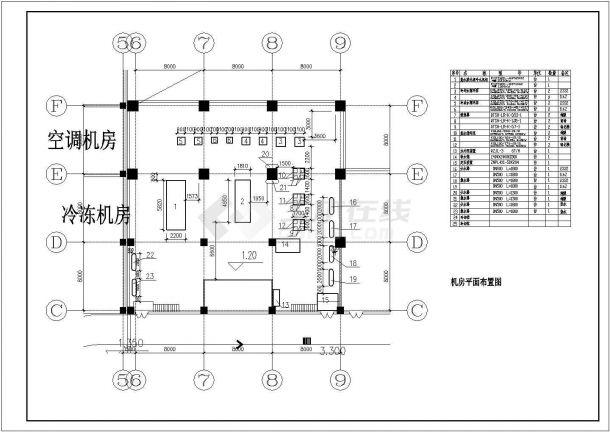 某地区空调制冷机房直燃机房平面图-图一