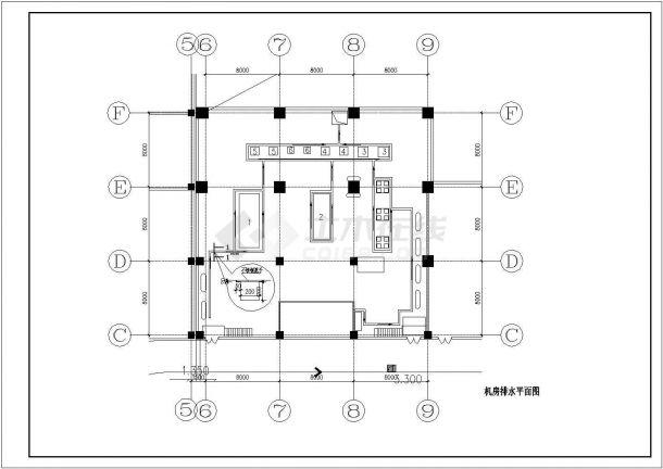 某地区空调制冷机房直燃机房平面图-图二