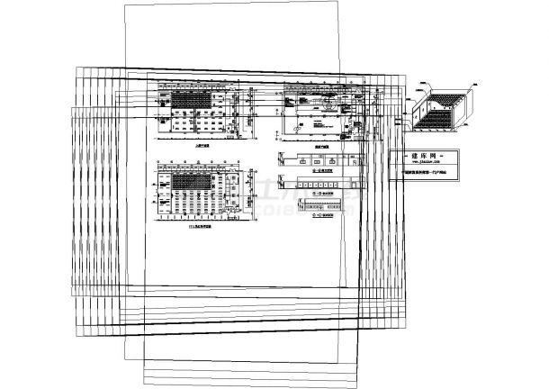 南方某电子厂厂房洁净室系统cad平面图-图一