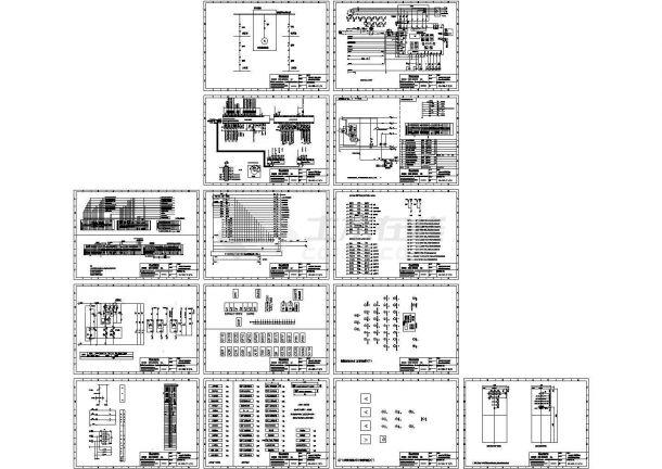 电厂柴油发电机电气原理图设计-图一