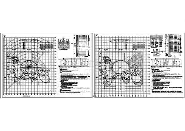 某地区广场景观照明电气设计施工图-图一