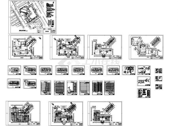 某市宾馆31309.6平带地下室给排水CAD设计图-图一