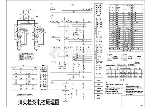 消火栓泵电气控制原理图设计图-图一