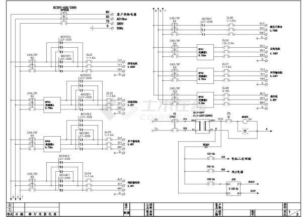 饮料瓶堆跺机电气控制原理图设计-图一
