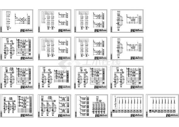 造纸废水处理电气控制原理图纸-图一