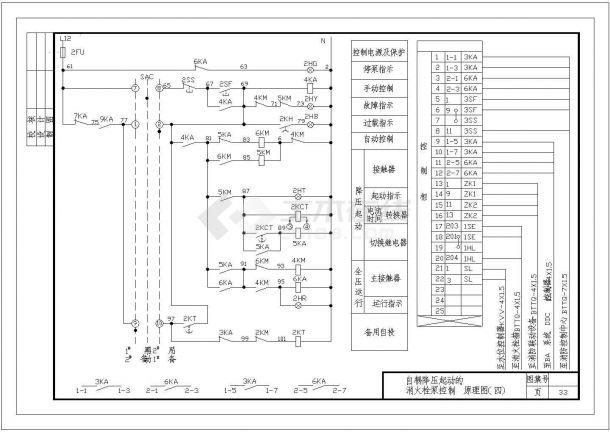 自耦降压启动消火栓泵控制原理设计-图一