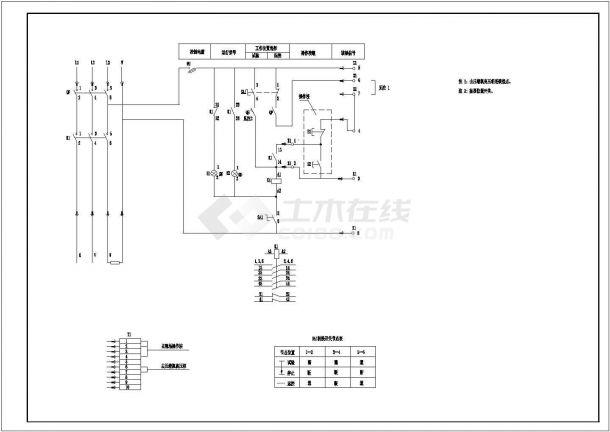 电气控制原理图纸设计-图一