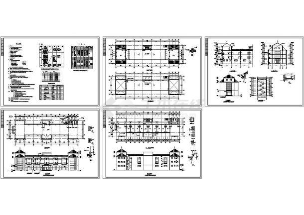 海阳市凤凰国际乡村社区2123.06㎡商业楼框架结构建筑设计图-图一