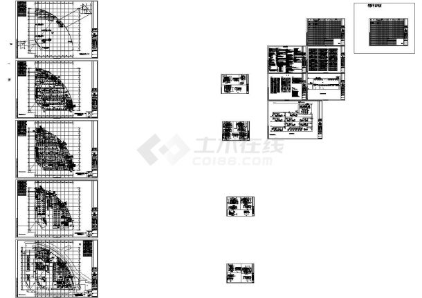 南昌凤凰城二期商业街电气施工设计图纸-图一