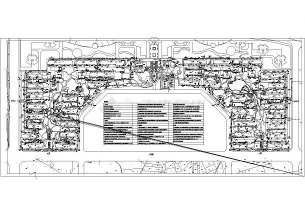 某地住宅小区室外管线综合布置施工图-图二