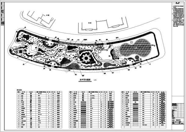 园林绿化施工建筑设计cad图纸-图一