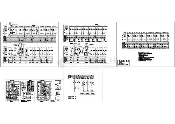 深圳某大厦系统图及配电房平面图-图一