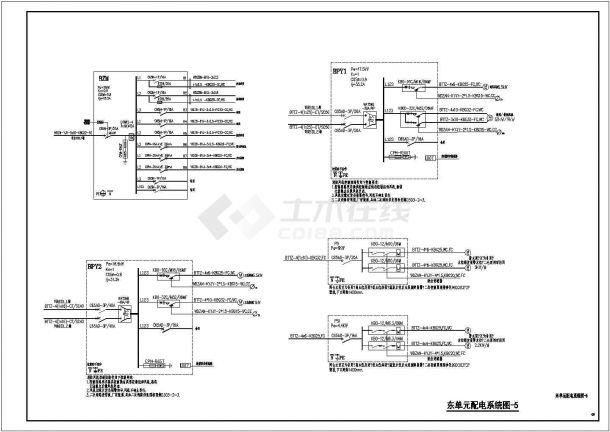 某地区中央广场37层高档住宅电气全套施工图-图一