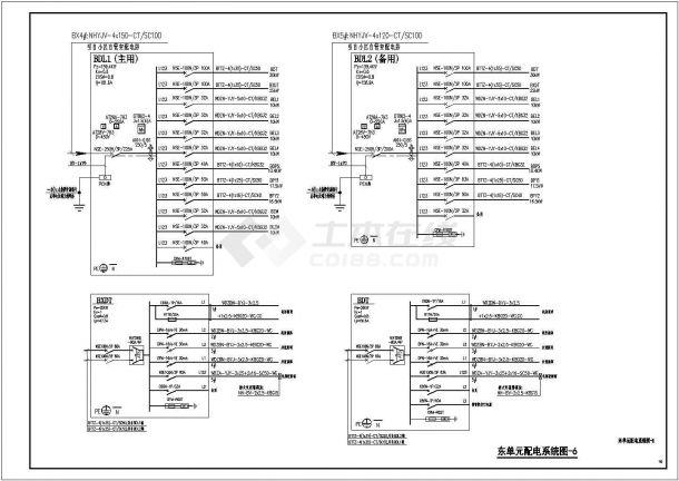 某地区中央广场37层高档住宅电气全套施工图-图二