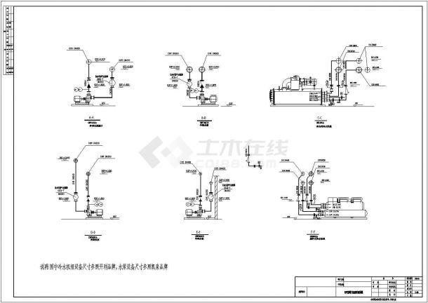 空调制冷机房及空调机房平剖布置图-图一
