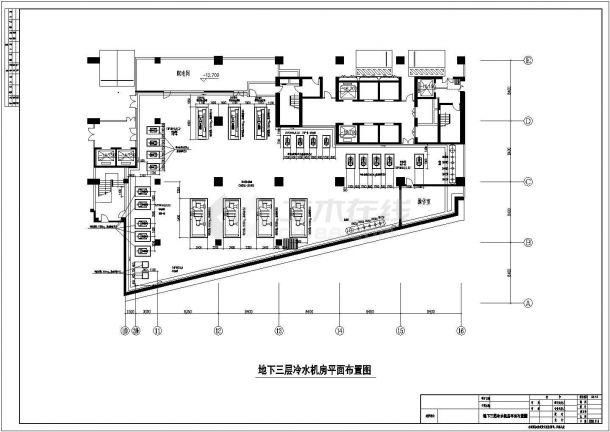 空调制冷机房及空调机房平剖布置图-图二