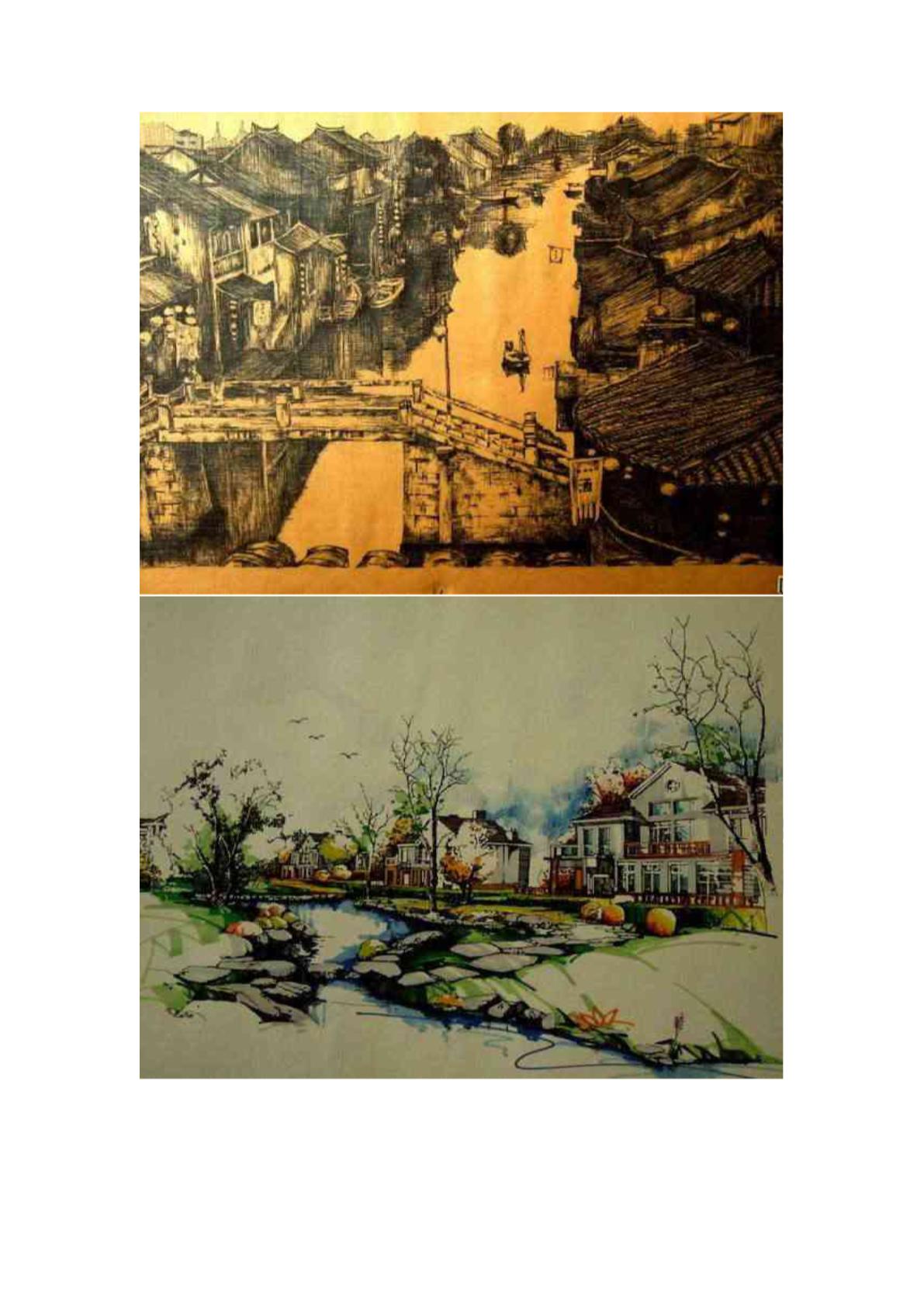 中国手绘建筑画大赛获奖作品图片1