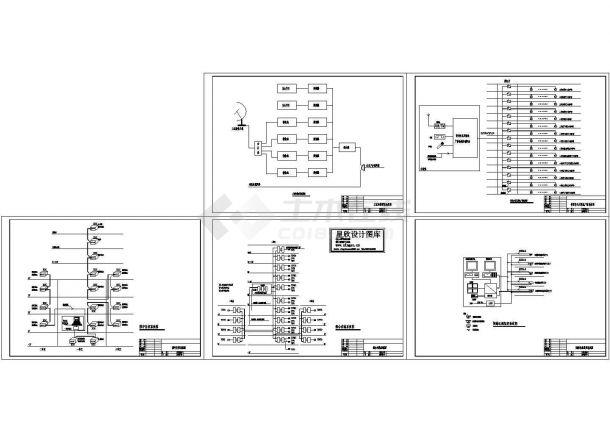 某单元楼智能化弱电系统图-图一
