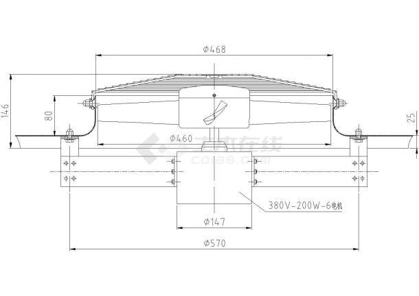 含报价铸造车间环保空调设计cad方案施工图-图一
