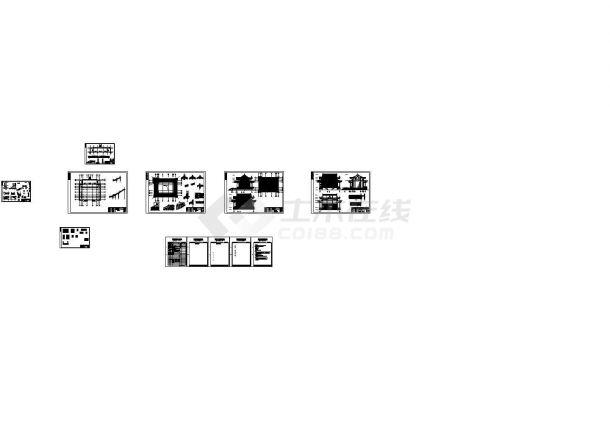 文庙建筑结构设计方案图-图一