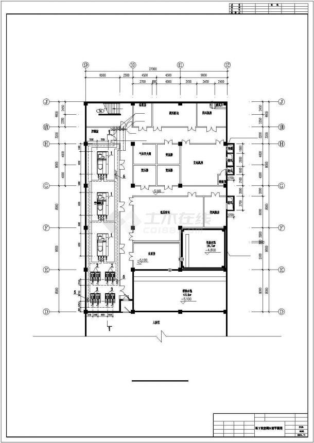 某地区超市商场地下室中央空调cad设计施工图纸-图一