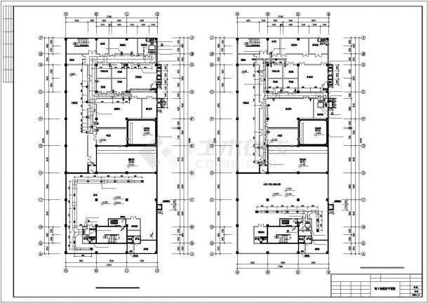 某地区超市商场地下室中央空调cad设计施工图纸-图二