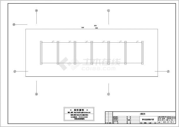 黑龙江铸造车间循环水泵房设计施工cad图-图一