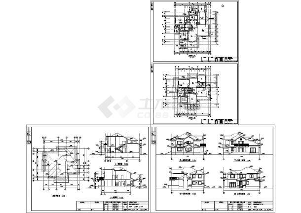 2层欧式小别墅室内装修图纸带效果图A-图一
