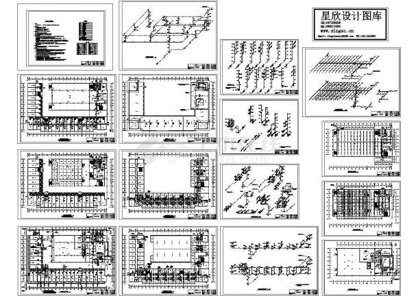 某五层商城综合楼给排水施工图-图一