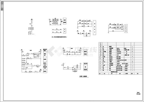 某地区学院综合楼变压器柜二次原理CAD设计图纸-图二