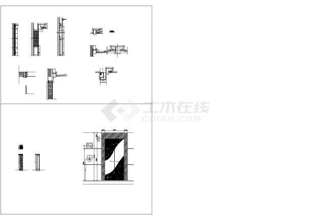 北京希尔顿酒店公共区域部分建筑设计CAD图-图一