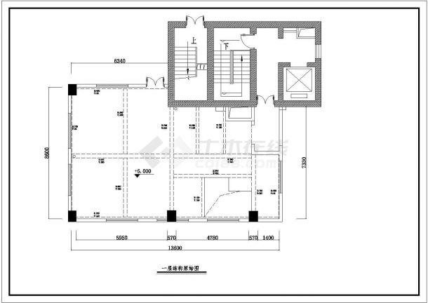 某市现代三层空中别墅室内装修图纸-图一