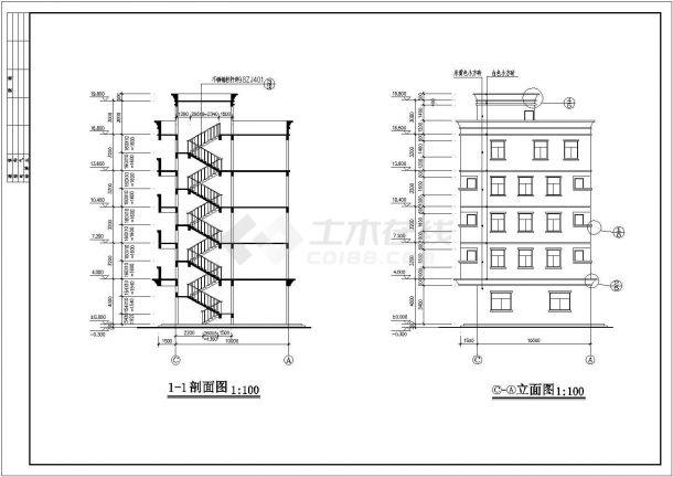 某五层私人住宅房屋建筑设计规划图-图二