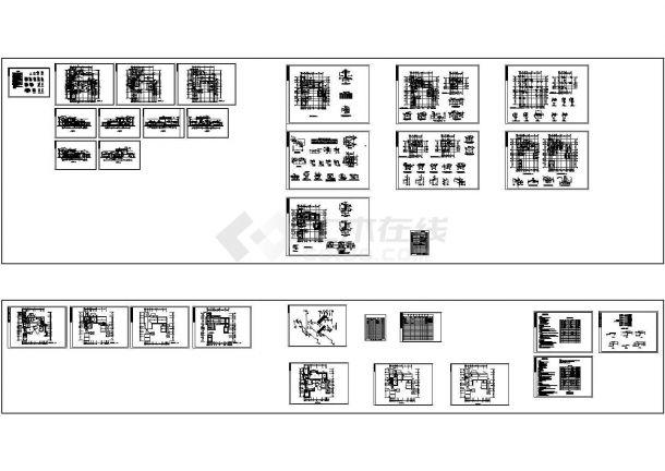 宿迁某区中国古典别墅施工设计cad图纸,共2张-图一