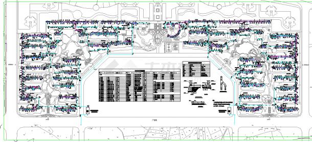 某16W小区室外管线综合布置图-图二