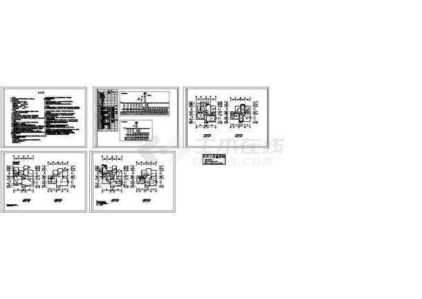 二层住宅电气施工cad图,共五张-图一