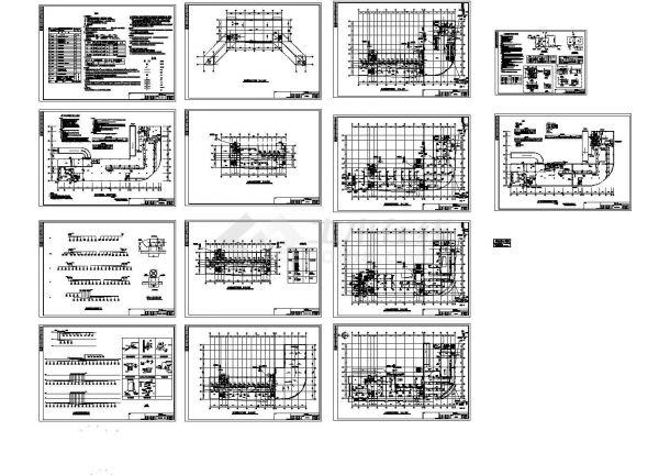 某公司综合办公楼空调设计cad施工图纸(建筑面积14000平方米,含人防设计,含设计说明)-图一