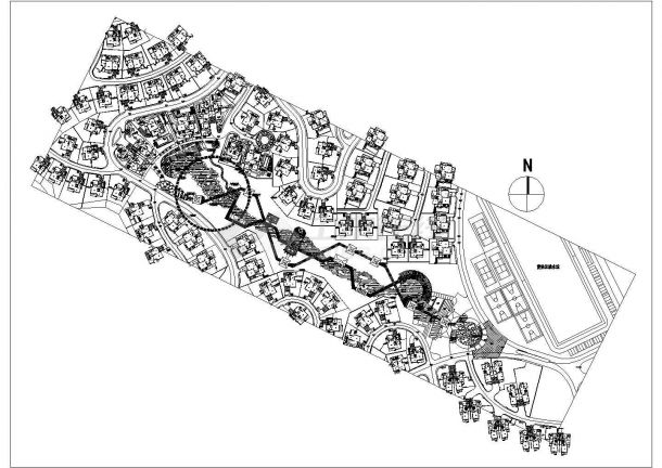 某别墅小区景观规划图纸-图一