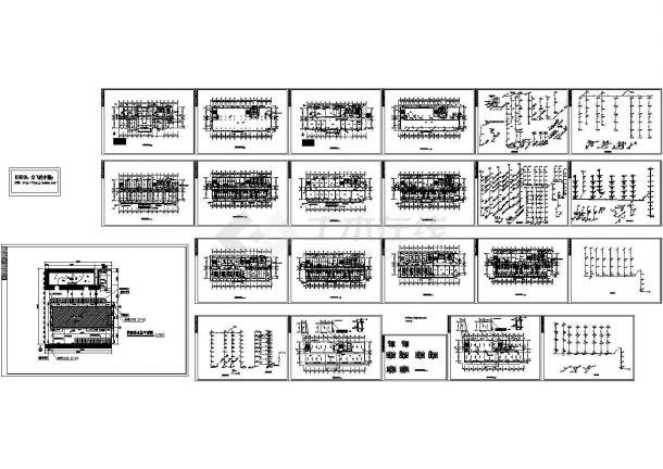 某地区7层医院综合楼给排水施工图-图一