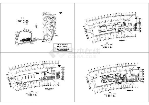 最新整理的CAD设计展览馆消防竣工图-图一