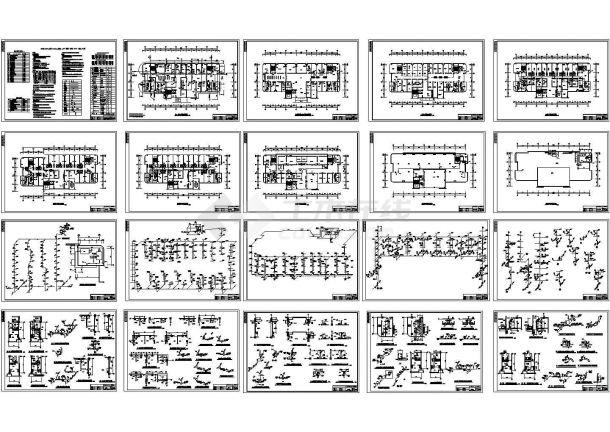 某地区层医院综合楼给排水设计图(含设计说明)-图一