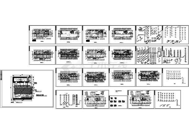 长53米宽18.7米7层医院综合楼给排水施工图-图一