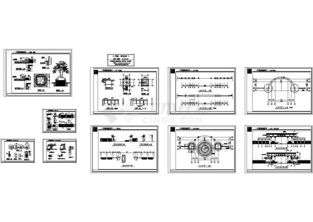 园林工程施工节点图纸-图一